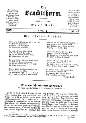 ˜Derœ Leuchtthurm on Oct 26, 1849