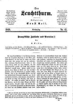 ˜Derœ Leuchtthurm vom 09.11.1849