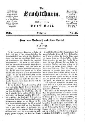˜Derœ Leuchtthurm vom 17.11.1849
