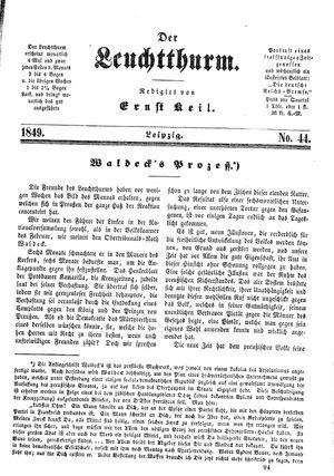 ˜Derœ Leuchtthurm on Nov 23, 1849
