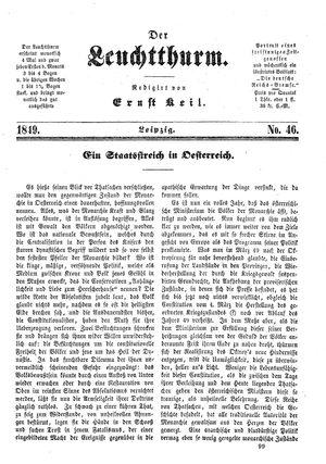 ˜Derœ Leuchtthurm vom 08.12.1849