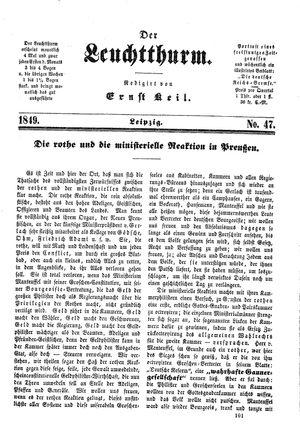 ˜Derœ Leuchtthurm vom 15.12.1849