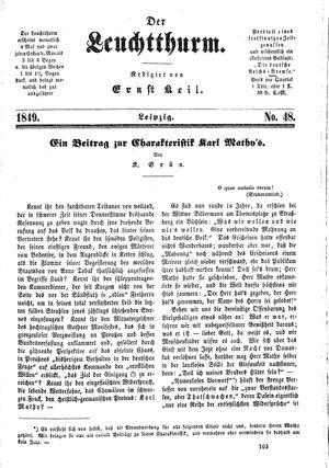 ˜Derœ Leuchtthurm on Dec 21, 1849