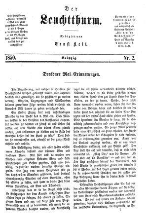 ˜Derœ Leuchtthurm vom 12.01.1850