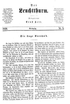 ˜Derœ Leuchtthurm vom 19.01.1850