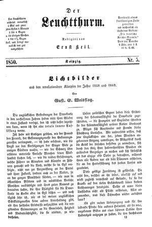 ˜Derœ Leuchtthurm vom 02.02.1850