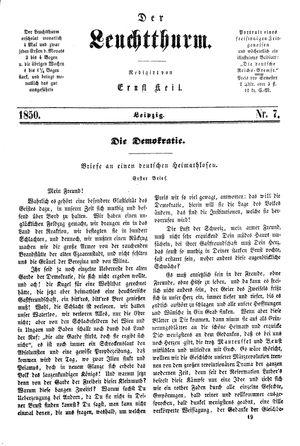 ˜Derœ Leuchtthurm vom 16.02.1850