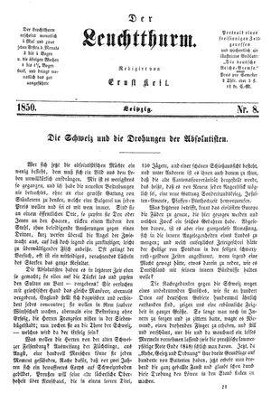 ˜Derœ Leuchtthurm vom 23.02.1850