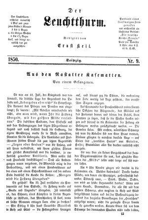 ˜Derœ Leuchtthurm vom 02.03.1850