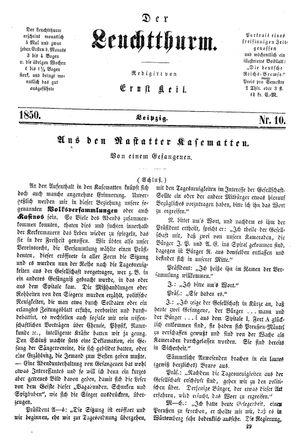 ˜Derœ Leuchtthurm vom 09.03.1850
