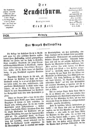 ˜Derœ Leuchtthurm vom 16.03.1850
