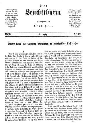 ˜Derœ Leuchtthurm vom 23.03.1850