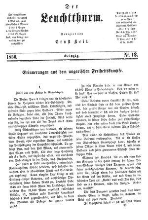 ˜Derœ Leuchtthurm vom 06.04.1850