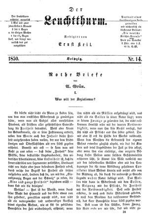 ˜Derœ Leuchtthurm vom 13.04.1850