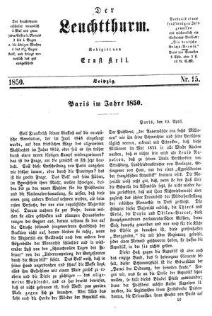 ˜Derœ Leuchtthurm vom 20.04.1850