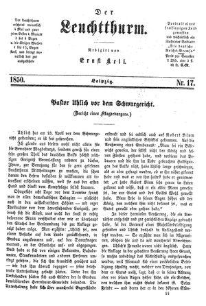 ˜Derœ Leuchtthurm vom 04.05.1850