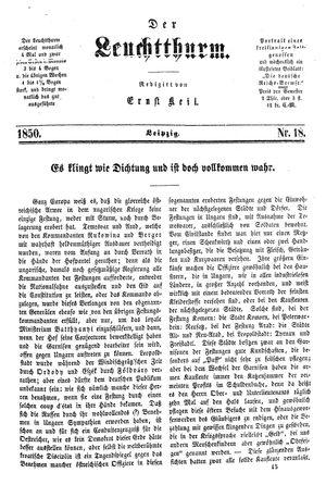 ˜Derœ Leuchtthurm vom 11.05.1850