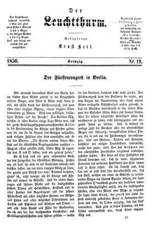 ˜Derœ Leuchtthurm vom 18.05.1850