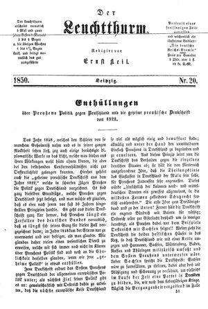 ˜Derœ Leuchtthurm vom 25.05.1850