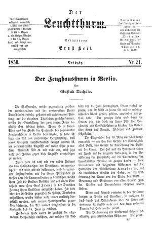 ˜Derœ Leuchtthurm vom 08.06.1850