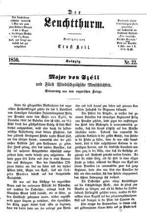 ˜Derœ Leuchtthurm vom 15.06.1850