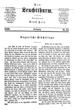˜Derœ Leuchtthurm vom 22.06.1850