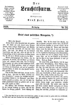˜Derœ Leuchtthurm vom 29.06.1850