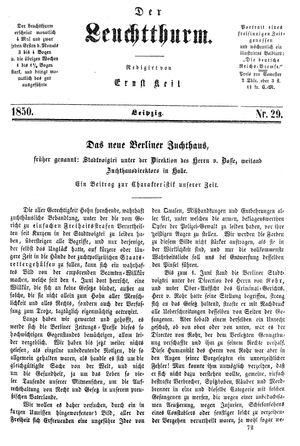 ˜Derœ Leuchtthurm vom 03.08.1850