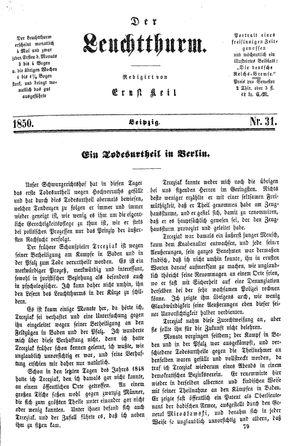 ˜Derœ Leuchtthurm vom 17.08.1850
