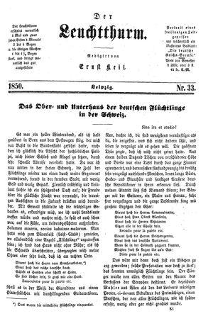 ˜Derœ Leuchtthurm vom 31.08.1850