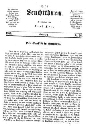 ˜Derœ Leuchtthurm vom 21.09.1850
