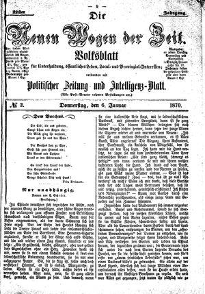 Neue Wogen der Zeit vom 06.01.1870