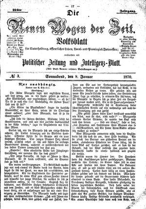 Neue Wogen der Zeit vom 08.01.1870