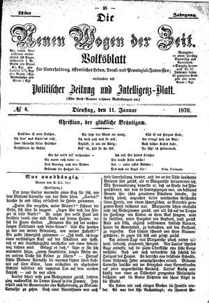 Neue Wogen der Zeit vom 11.01.1870