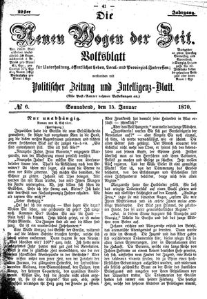 Neue Wogen der Zeit vom 15.01.1870