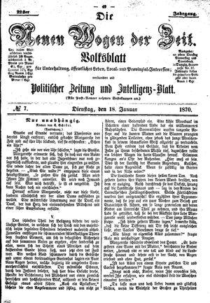 Neue Wogen der Zeit on Jan 18, 1870