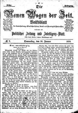 Neue Wogen der Zeit vom 20.01.1870