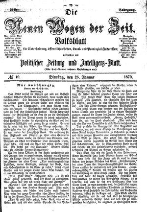 Neue Wogen der Zeit vom 25.01.1870