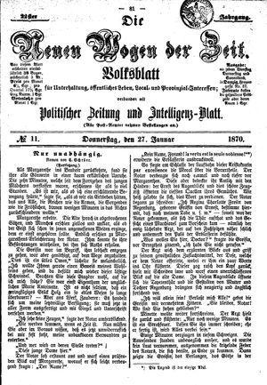 Neue Wogen der Zeit on Jan 27, 1870