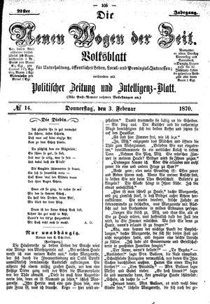 Neue Wogen der Zeit on Feb 3, 1870