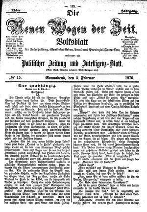 Neue Wogen der Zeit vom 05.02.1870