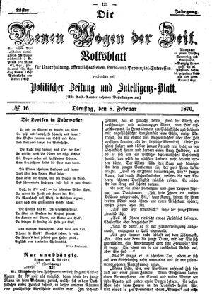 Neue Wogen der Zeit vom 08.02.1870