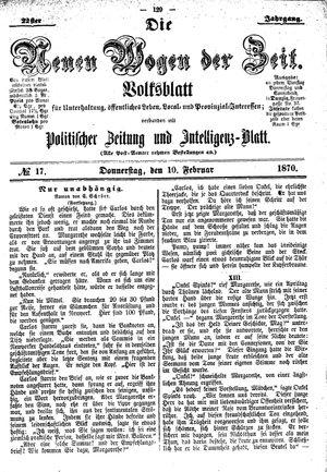 Neue Wogen der Zeit on Feb 10, 1870