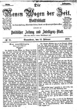Neue Wogen der Zeit vom 12.02.1870