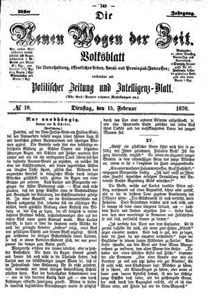 Neue Wogen der Zeit vom 15.02.1870