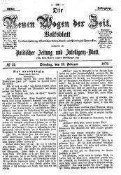 Neue Wogen der Zeit (22.02.1870)
