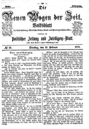 Neue Wogen der Zeit on Feb 22, 1870