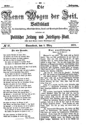 Neue Wogen der Zeit vom 05.03.1870