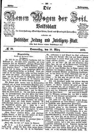 Neue Wogen der Zeit vom 10.03.1870