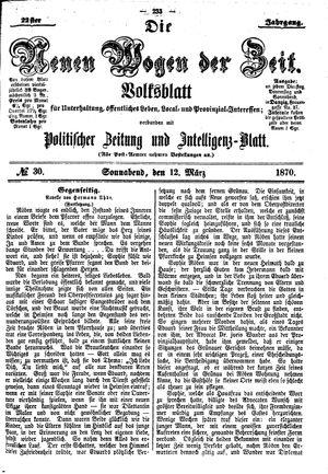 Neue Wogen der Zeit on Mar 12, 1870